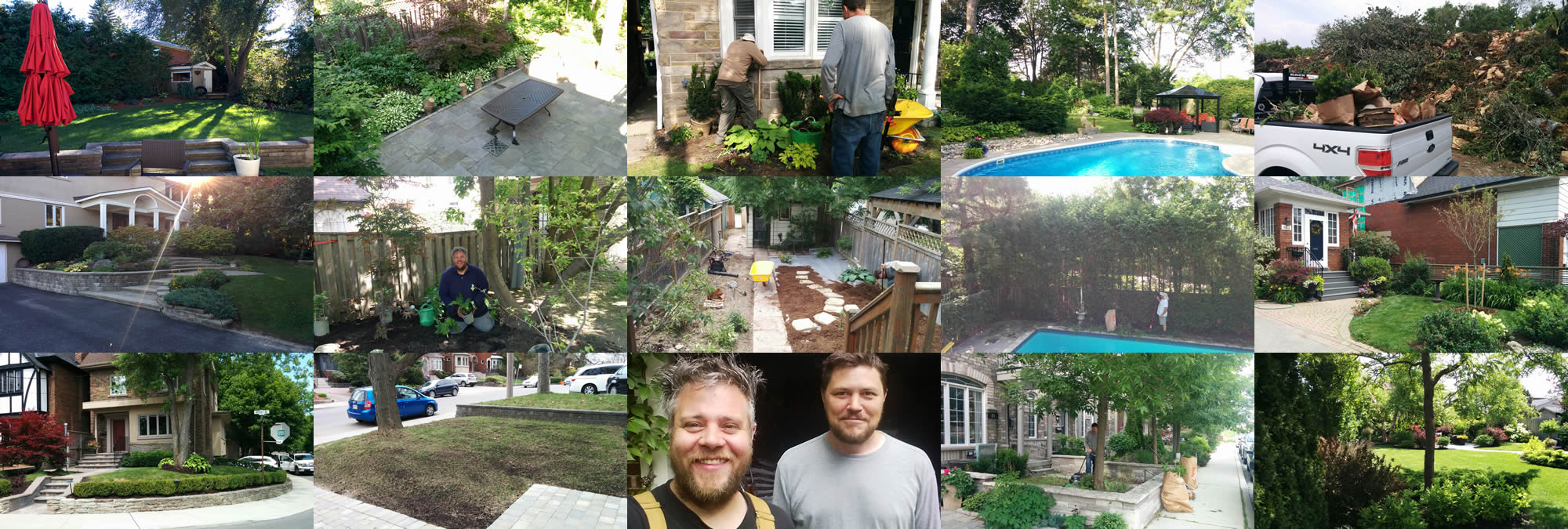 Lawn care and gardening services from Gardenzilla Lawn & Garden in Midtown Toronto - selection of jobsite photos