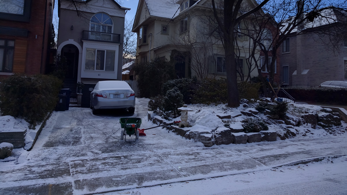 Snow removal services for a Gardenzilla client in Chaplin Estates