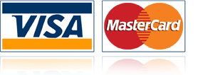 Visa and Mastercard payment methods accepted