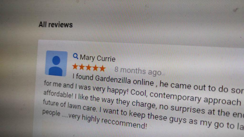 Gardenzilla customer reviews