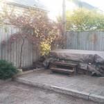 Back yard - Fall leaf cleanup in the beaches - Gardenzilla