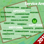 2018 Service area for Gardenzilla including Midtown and Uptown Toronto, East York, Bedford Park, Don Mills, Lawrence Park, Lytton Park, Old Forest Hill, Forest Hill, Yonge & Eglinton, Wexford, Don Mills, Rosedale, The Annex, Christie Pits, Parkdale, Cabbagetown, the Danforth, Leslieville, The Beaches, and Jonesville
