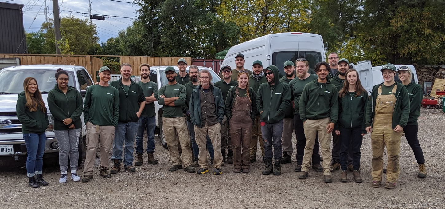 The Gardenzilla Team photographed on October 7, 2019
