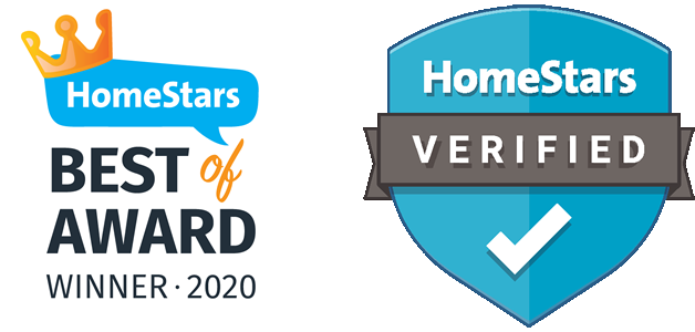 Homestars best of award 2020 and Homestars verified