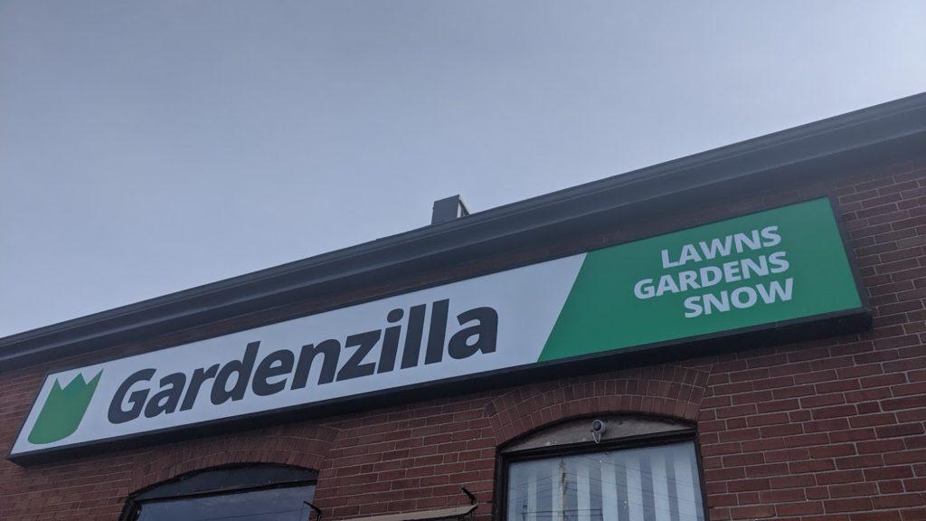 New sign for Gardenzilla Lawn & Garden