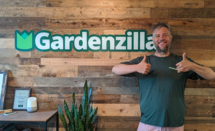 Michael Chudy at the Gardenzilla office