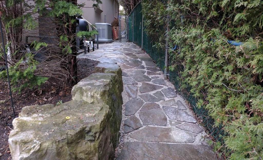 Flagstone pathway by Gardenzilla