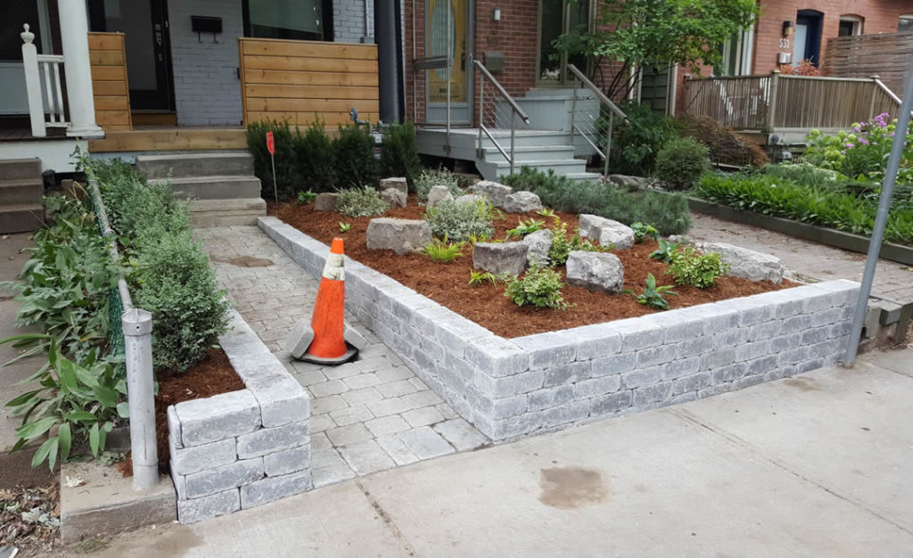 New pathway and retaining walls by Gardenzilla