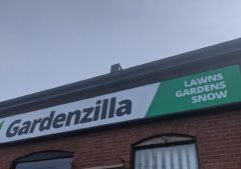 New sign for Gardenzilla Lawn & Garden